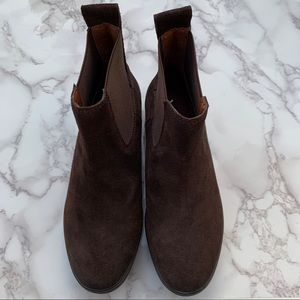 Brown Suede Lucky Brand Ankle Boots
